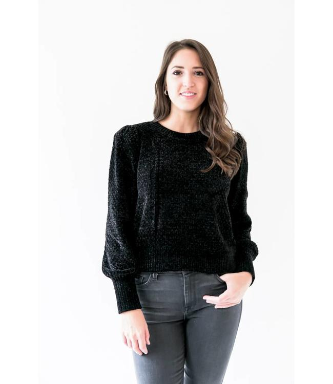 MICHAEL KORS BALLON VELVET SWEATER - ABT