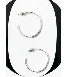 PILGRIM NUALA EARRINGS - 6023 - SILVER