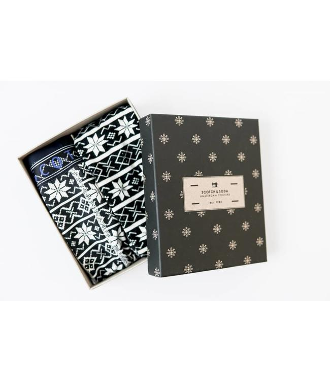 SCOTCH AND SODA GIFT BOX - 744 - BLACK WHITE