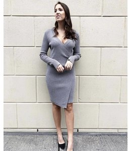 ADELYN RAE SHARINE DRESS - 3988 - HEATHER GREY