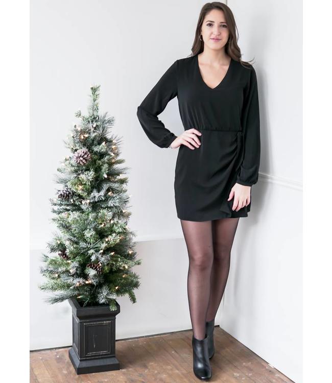GREYLIN SUKI KNOT DRESS - 3651 - BLACK