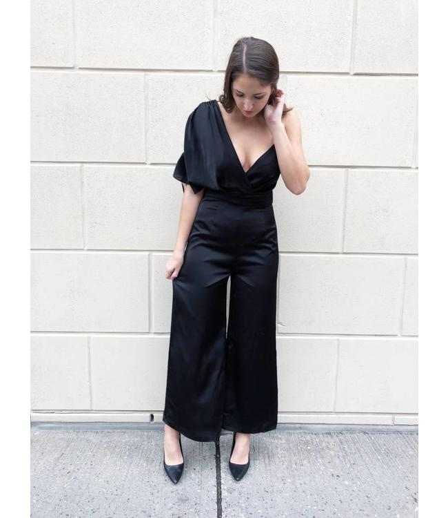 KEEPSAKE UNCOVERED JUMPSUIT - 975 - BLACK