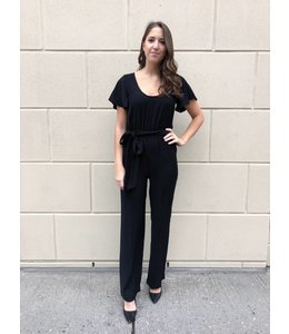 MICHAEL KORS BELT JUMPSUIT - 6BZ - BLACK