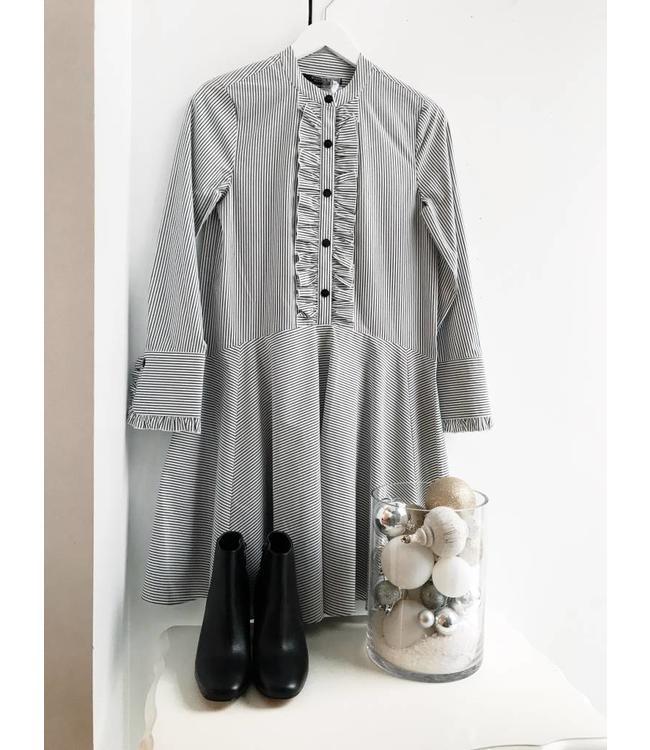 SCOTCH AND SODA SHIRT DRESS - 595 - WHITE