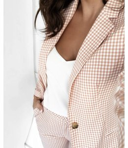 SCOTCH AND SODA CLASSIC BLAZER GINGHAM - 026 - PINK