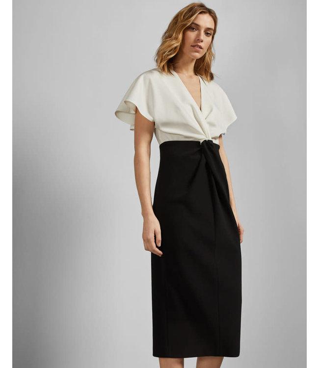 TED BAKER ELLAME DRESS - BLACK WHITE