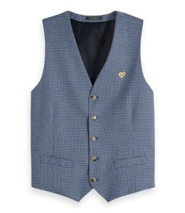 SCOTCH AND SODA WAISTCOAT PATTERN - 148742 BLUE