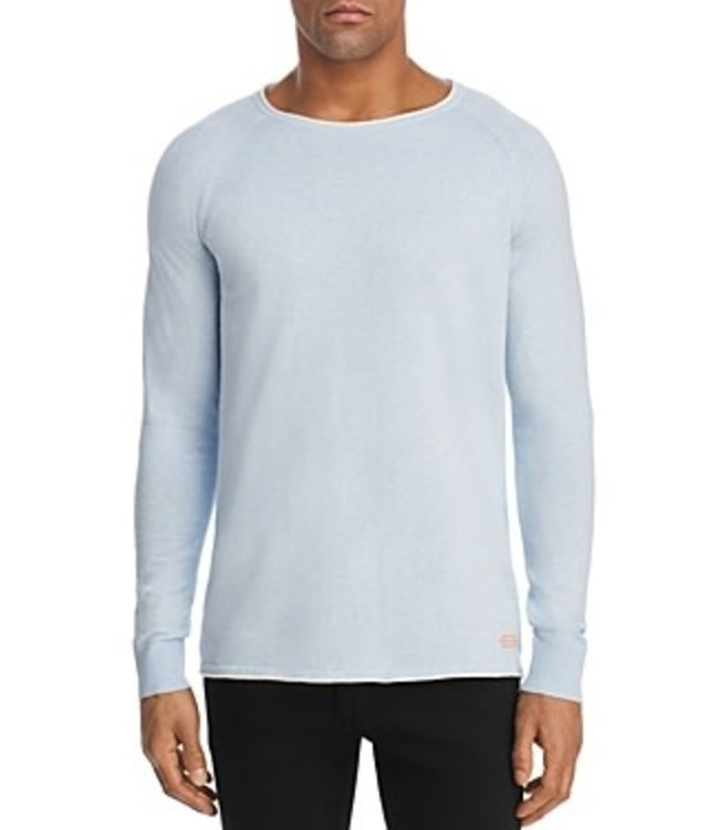 SCOTCH AND SODA TIPPED CREWNECK  SWEATHER - 149096 BLUE