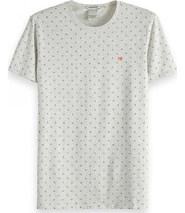 SCOTCH AND SODA LOSANGE TSHIRT - 149001 LIGHT GREY -