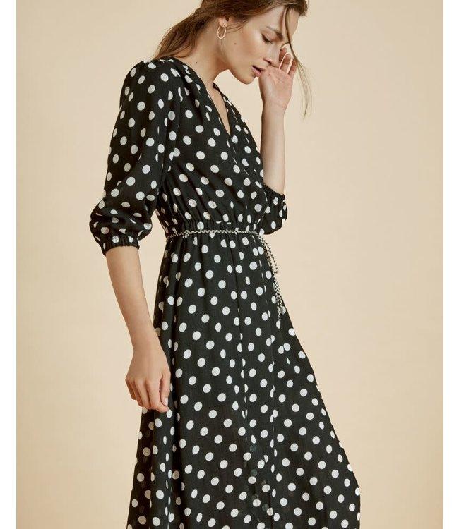 SUNCOO CORDELIA DRESS - 3175 - NOIR