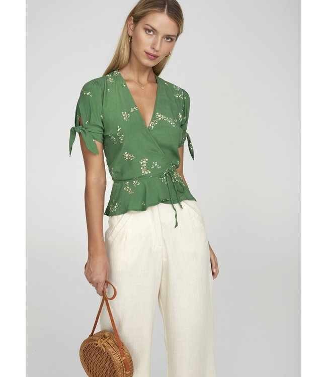 LUCY WRAP TOP - MYRTILLE GREEN