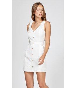 GREYLIN ALTHEA BUTTON DRESS - 3722 - WHITE