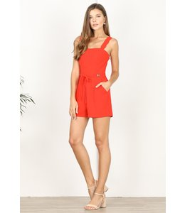 ADELYN RAE LENORA ROMPER - POPPY RED