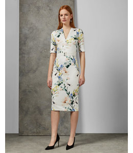 TED BAKER LYLLI DRESS - WHITE