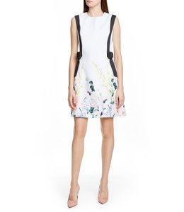 TED BAKER MARZY DRESS - WHITE