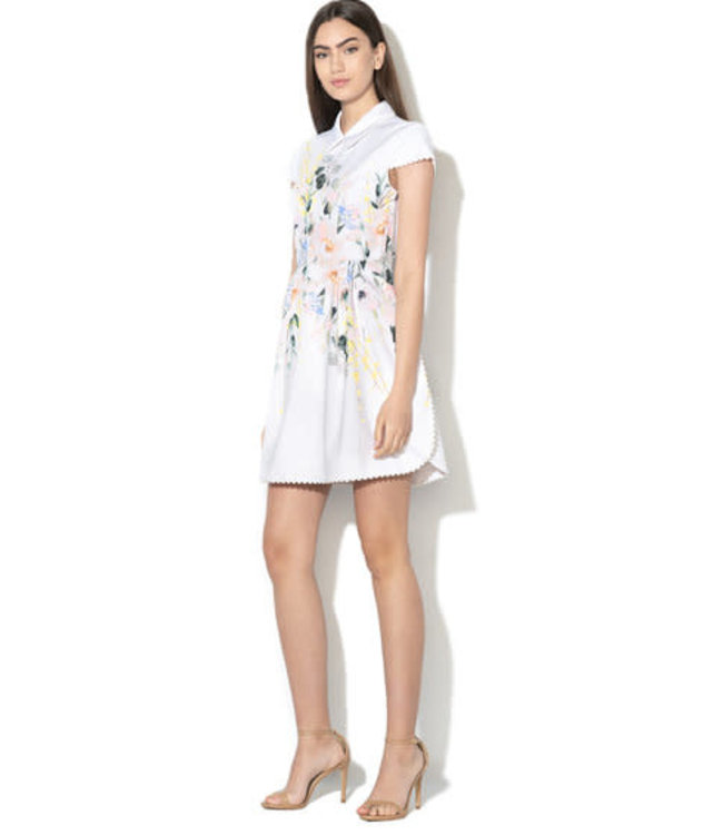 TED BAKER CHARSY DRESS - WHITE