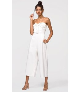 GREYLIN GRACIE BOW JUMPSUIT - WHITE