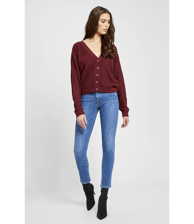 GENTLE FAWN QUINCE CARDI - 3780 - VINO