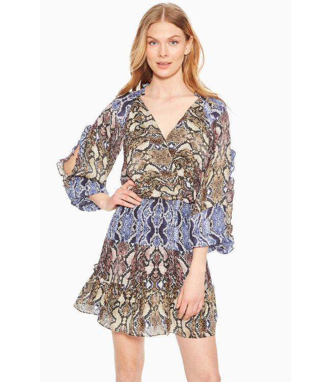 PARKER GLADIS DRESS - PYTHON MULTI