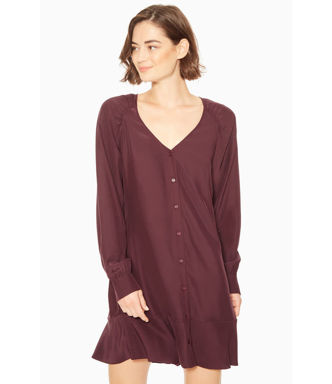 CALANTHA DRESS - MAROON