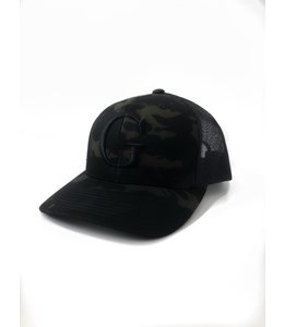 "GLORIUS CAMO CAP - ""G"" BLACK - SNAP BACK"