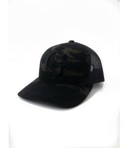 """GLORIUS CAMO CAP - """"G"""" BLACK"""