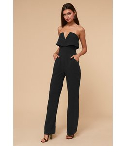 ADELYN RAE AIME JUMPSUIT - 1918 - BLACK