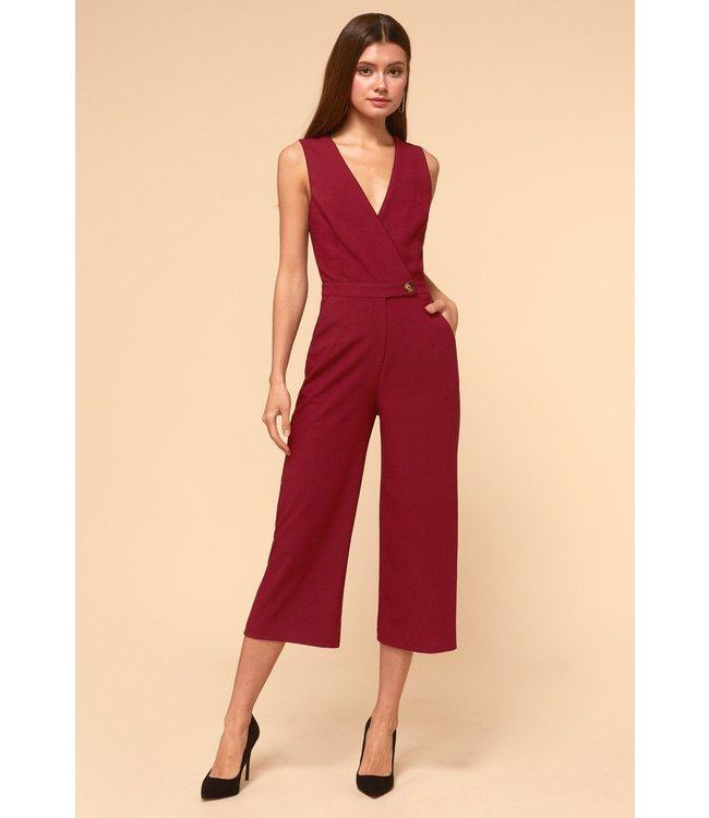 ADELYN RAE ARIES JUMPSUIT - 1901 - CRANBERRY