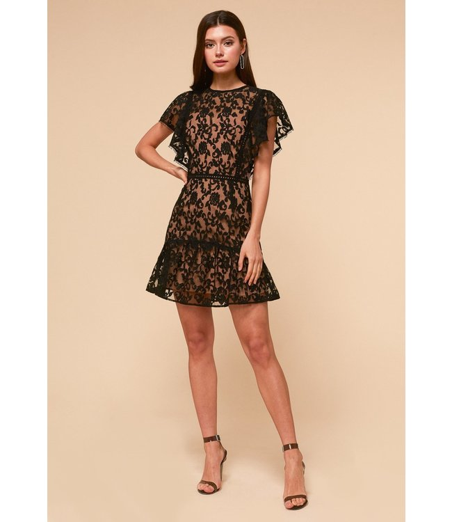 ADELYN RAE EDITH DRESS - 4407 - BLK NUDE