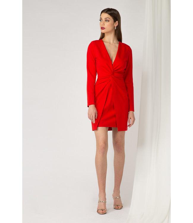 ADELYN RAE MIRABEL DRESS - 4495 - SCARLET