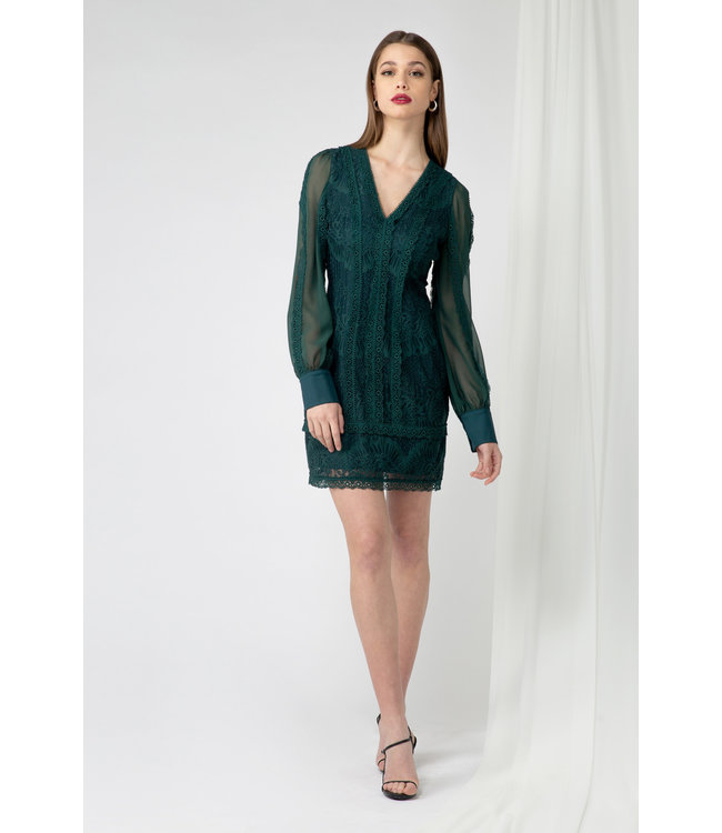 ADELYN RAE CORI SHORT DRESS - 4361 - EMERALD