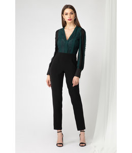 ADELYN RAE CORI JUMPSUIT - 1929 - EMERALD
