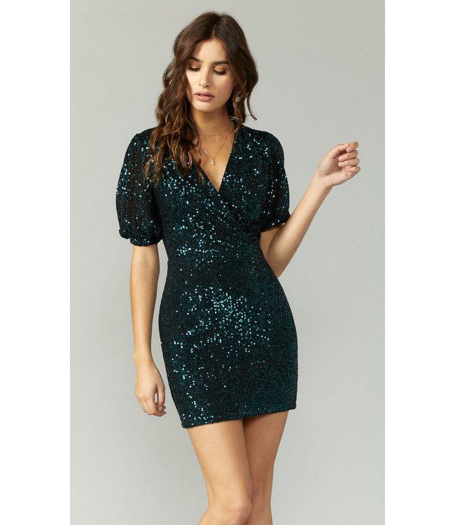 GREYLIN SEQUINS DRESS - 3824 - EMERALD