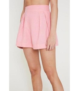 ONDINE SHORT - ROSE LINEN