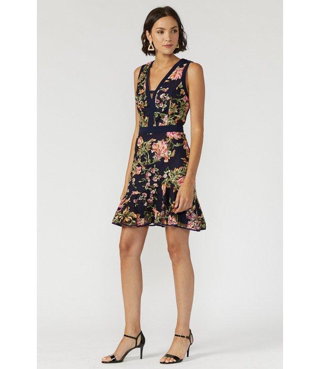 ADELYN RAE KAYLEA SHORT DRESS - 4571 - NAVY