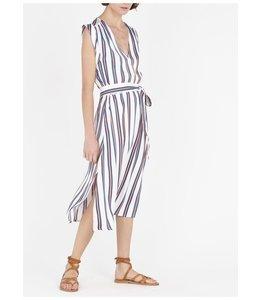 SUNCOO CLAMART DRESS - WHITE -