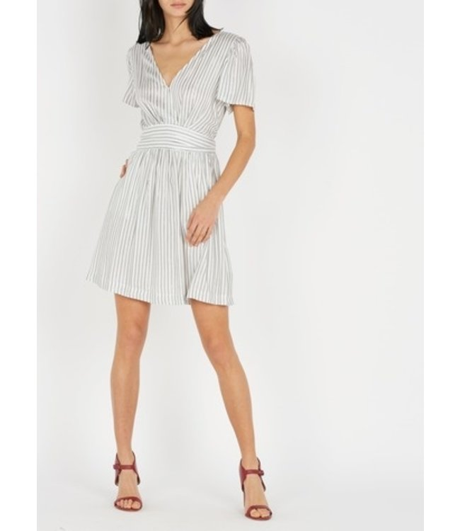 SUNCOO CELENA DRESS - 342 - ARGENT