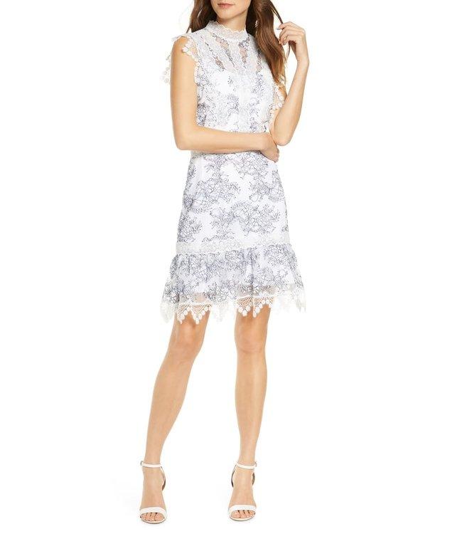 ADELYN RAE HATTIE DRESS - 4680 - WHT NAVY