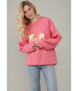 SOUTH PARADE ALEXA SWEATER - PALMS - PINK -