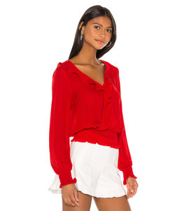 QUINCY BLOUSE - MONACO RED