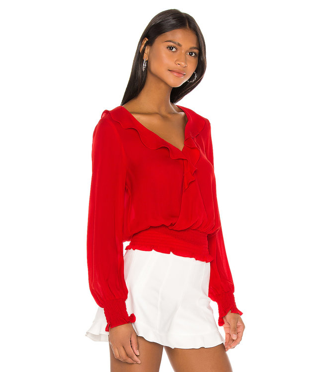 PARKER QUINCY BLOUSE - MONACO RED