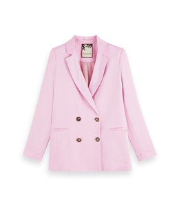 SCOTCH AND SODA DOUBLE B BLAZER - PINK
