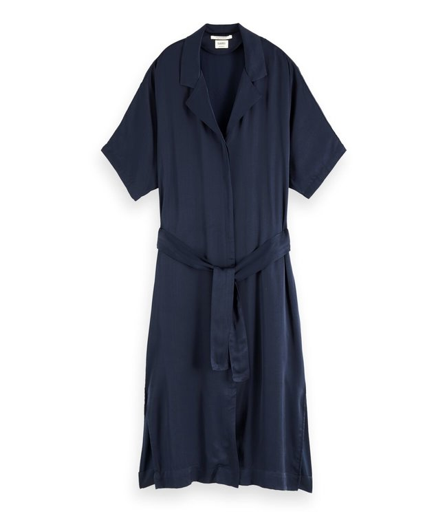 SCOTCH AND SODA SHIRT DRESS - 427 - NAVY