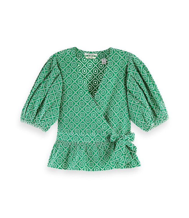 SCOTCH AND SODA WRAP TOP - 557 - GREEN