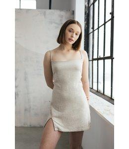 ESSENTIELS GISELE DRESS - BEIGE -