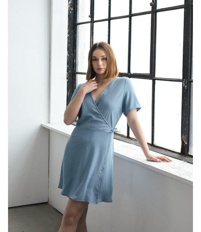 ESSENTIELS GRACE DRESS - BLUE -