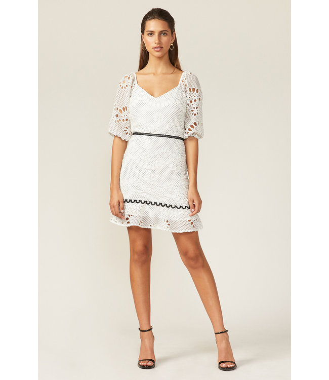MAY MINI DRESS - WHITE -