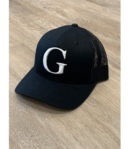 CAP - G-WHITE ON BLCK