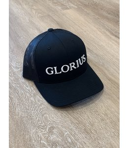 GLORIUS CAP - GLORIUS WHITE ON BLACK