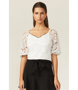 ADELYN RAE MAY TOP - 1772 - WHT BLK
